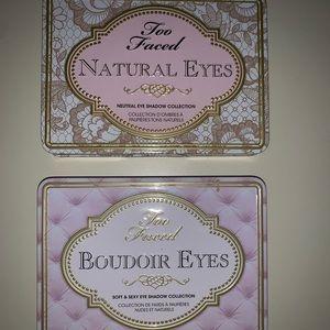 Too faced natural eyes and boulder eyes
